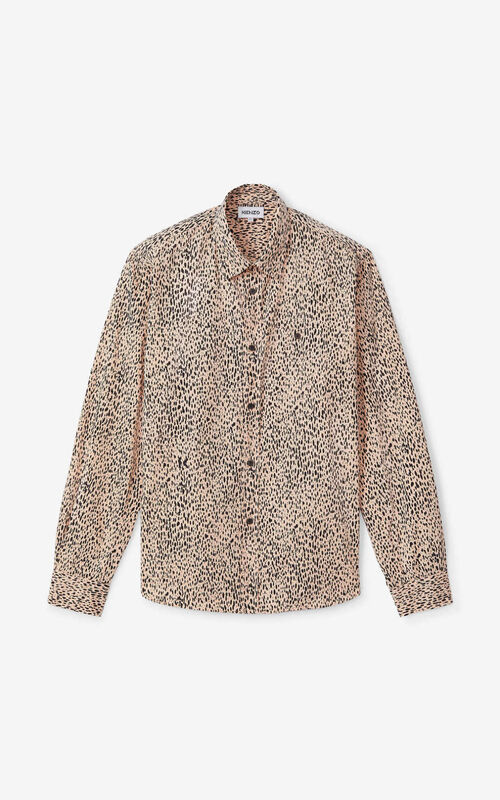 FADED PINK 'Leopard' casual shirt for unisex KENZO