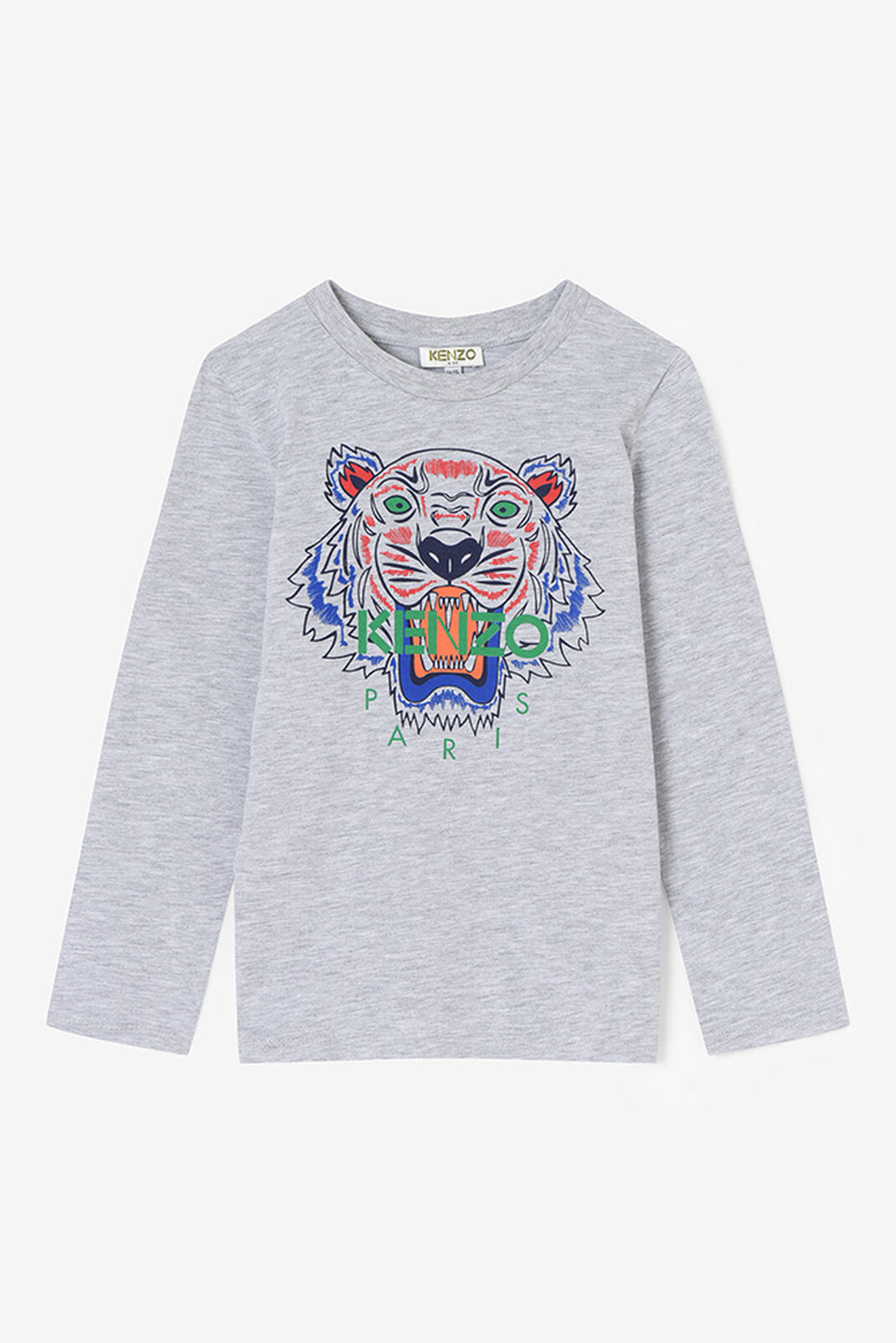 MIDDLE GREY Tiger Long T-shirt for men KENZO