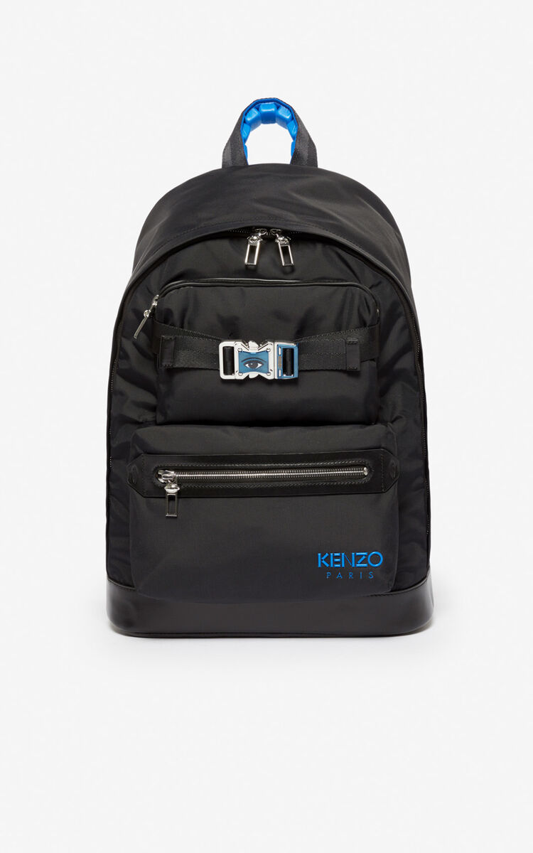 BLACK Large 'KENZO Link' backpack for men