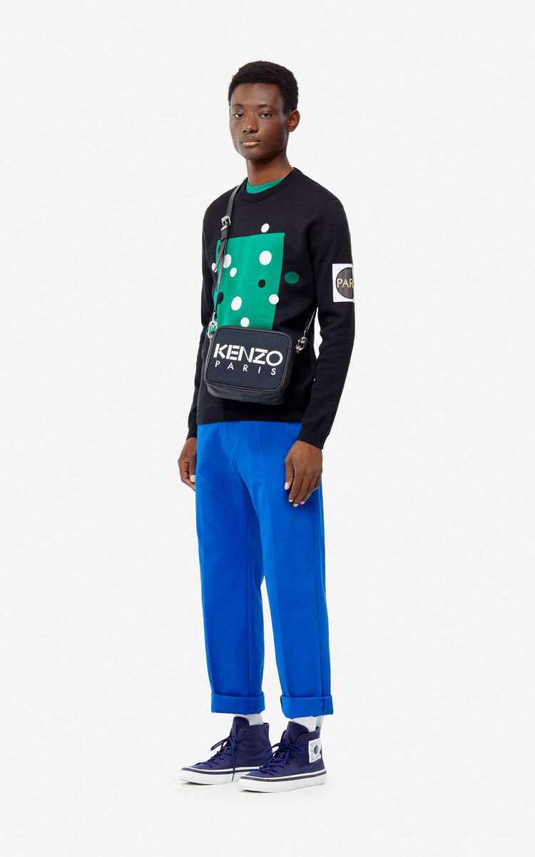 BLACK 'Dots' jumper for men KENZO