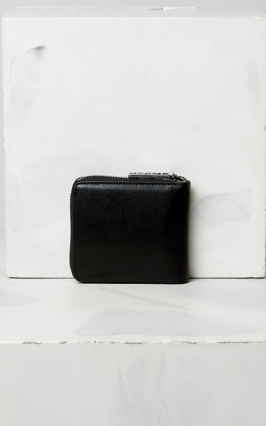 BLACK Leather Eye wallet for unisex KENZO