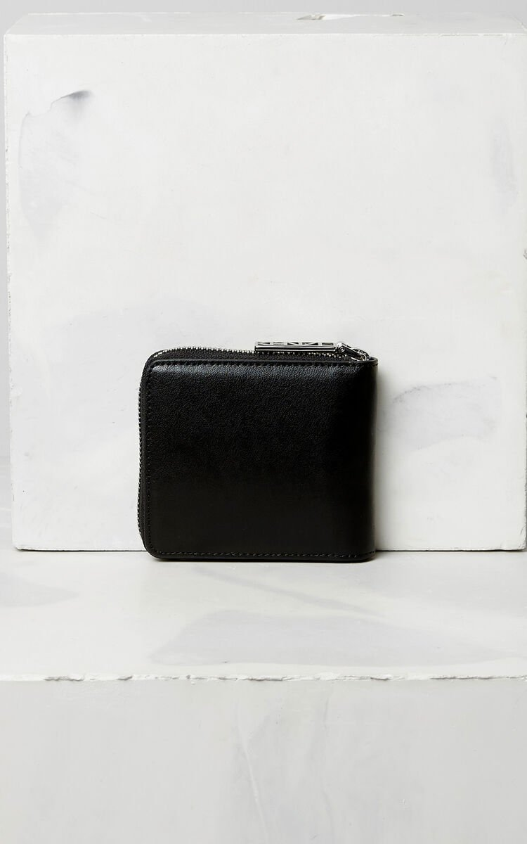 BLACK Eye leather wallet for global.none KENZO
