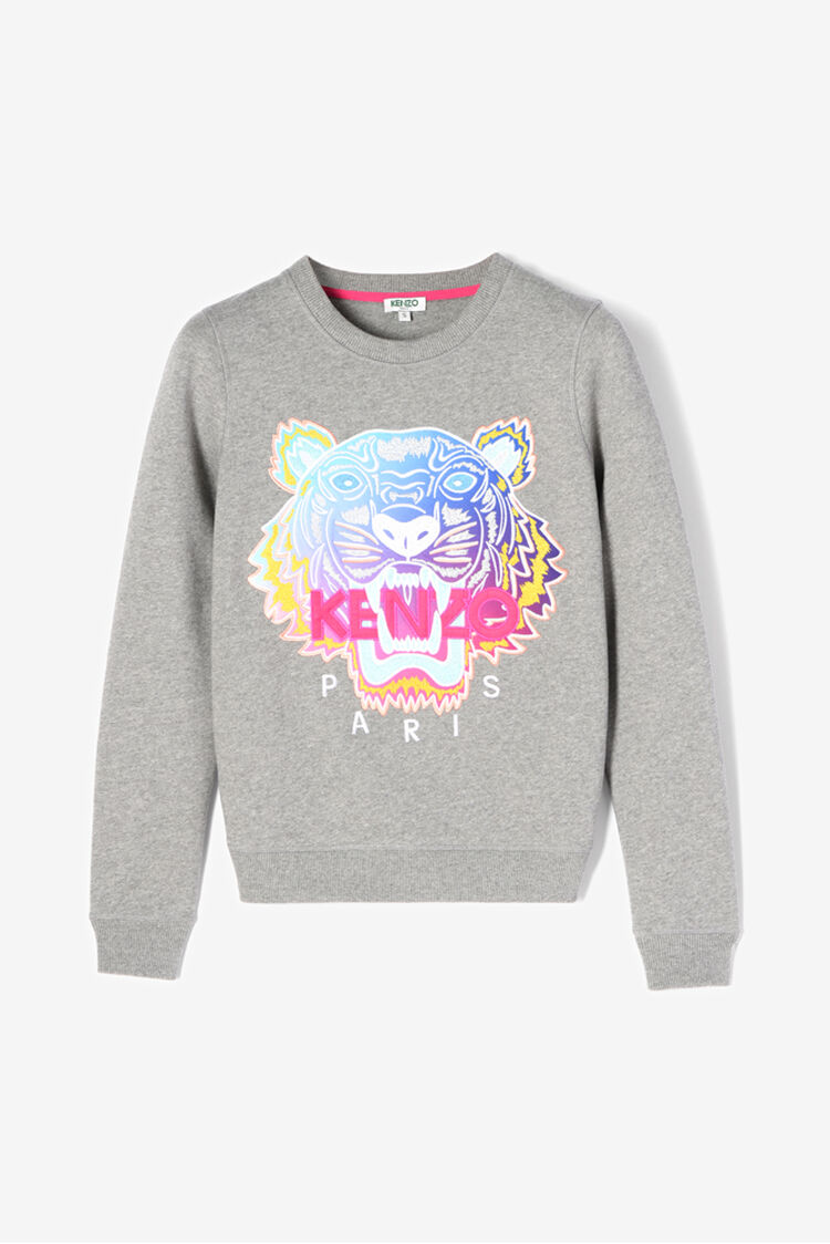DOVE GREY Rainbow' Tiger Sweatshirt for women KENZO
