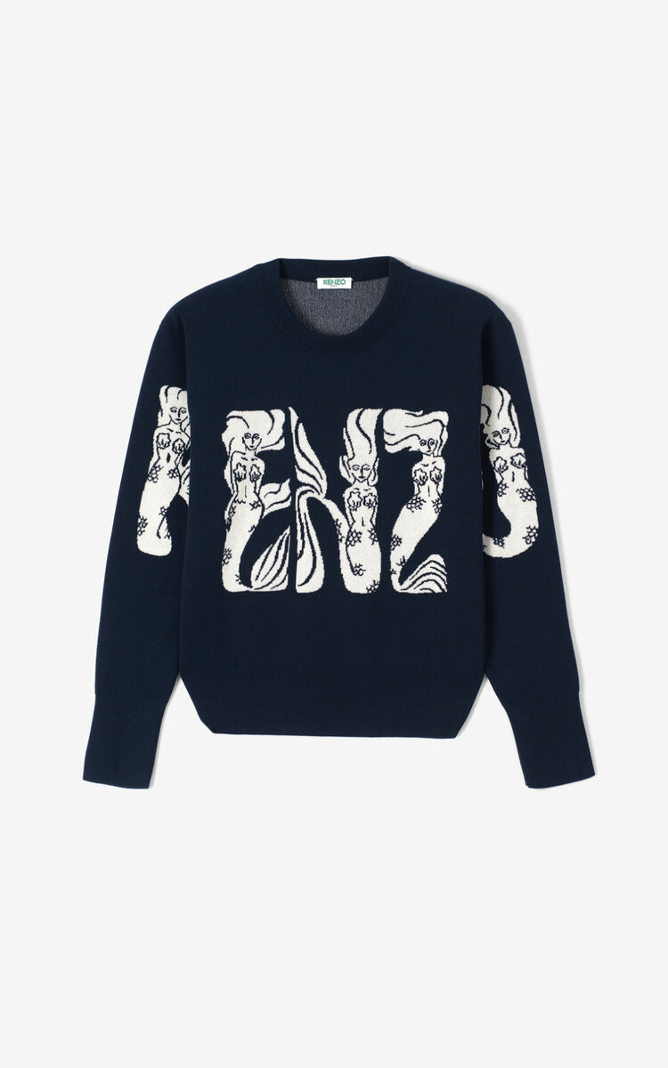 MIDNIGHT BLUE Mermaids' jumper for women KENZO