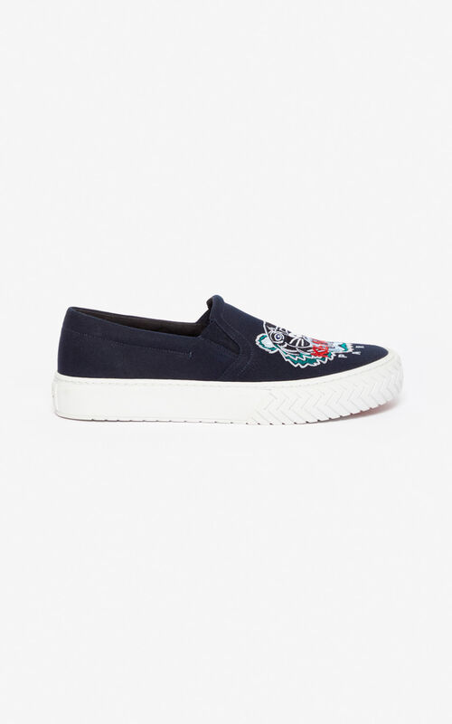 NAVY BLUE Slip-on K-Skate Tiger shoes for unisex KENZO