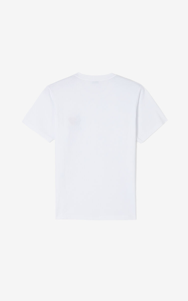WHITE 'Lucky Star' T-shirt for men KENZO
