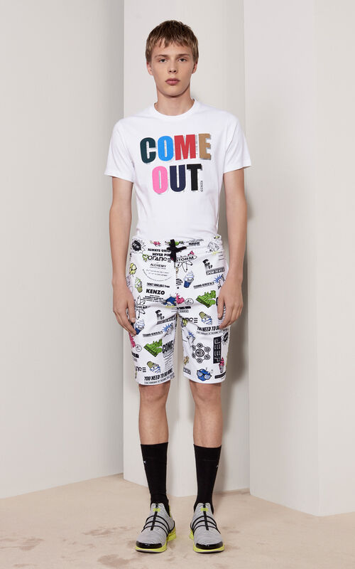 WHITE 'Come Out' T-shirt for women KENZO