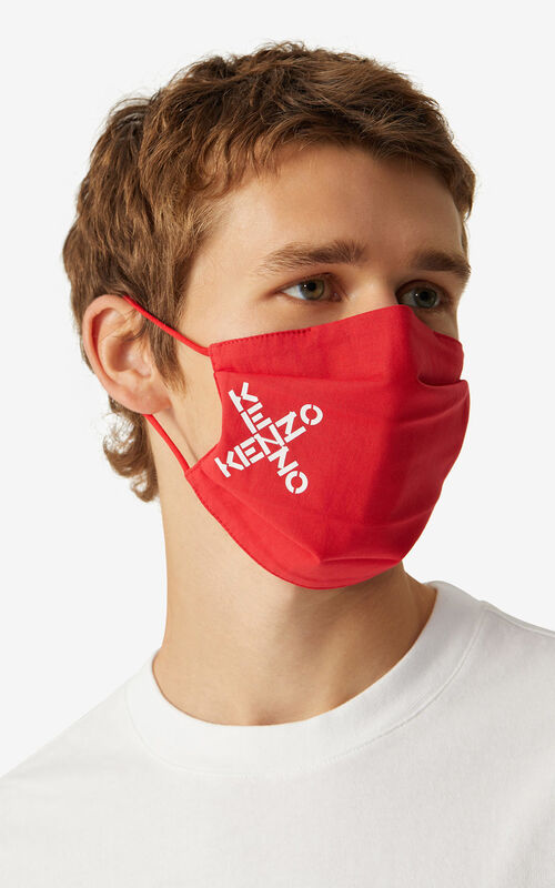 MULTICOLOR KENZO Sport pack of 3 face protection masks tricolor for men