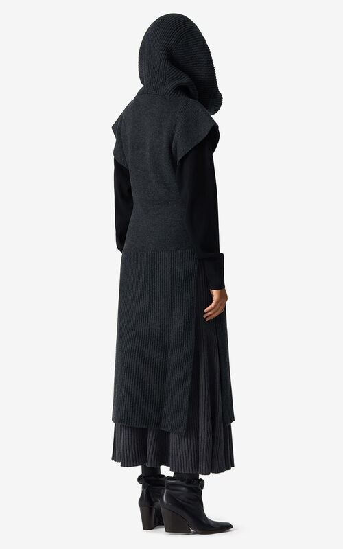 ANTHRACITE Long hooded dress for men KENZO
