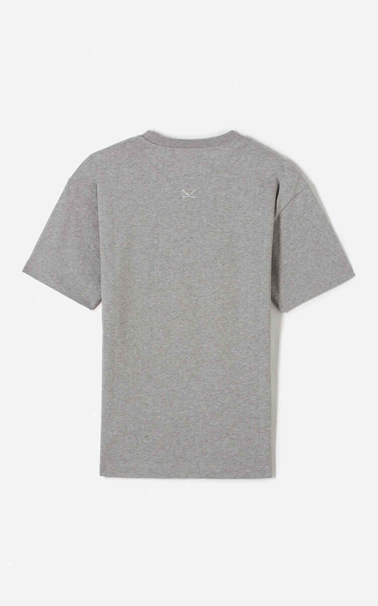 DOVE GREY 'Scream' t-shirt for men KENZO