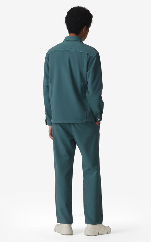 GLACIER Striped cropped trousers  for men KENZO