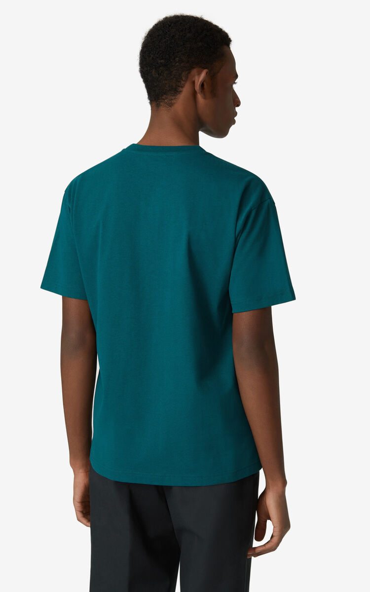 DUCK BLUE Tiger loose-fitting T-shirt for men KENZO