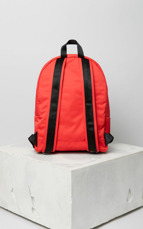 MEDIUM RED Large KENZO Logo backpack for unisex