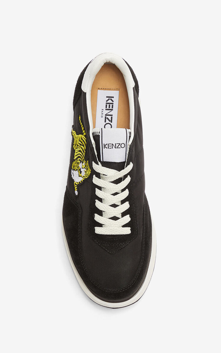 BLACK KENZO MOVE platform sneakers for unisex