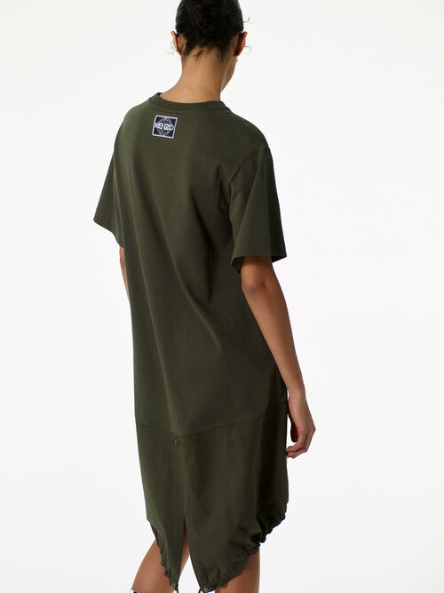 DARK KHAKI Baggy t-shirt dress  for women KENZO