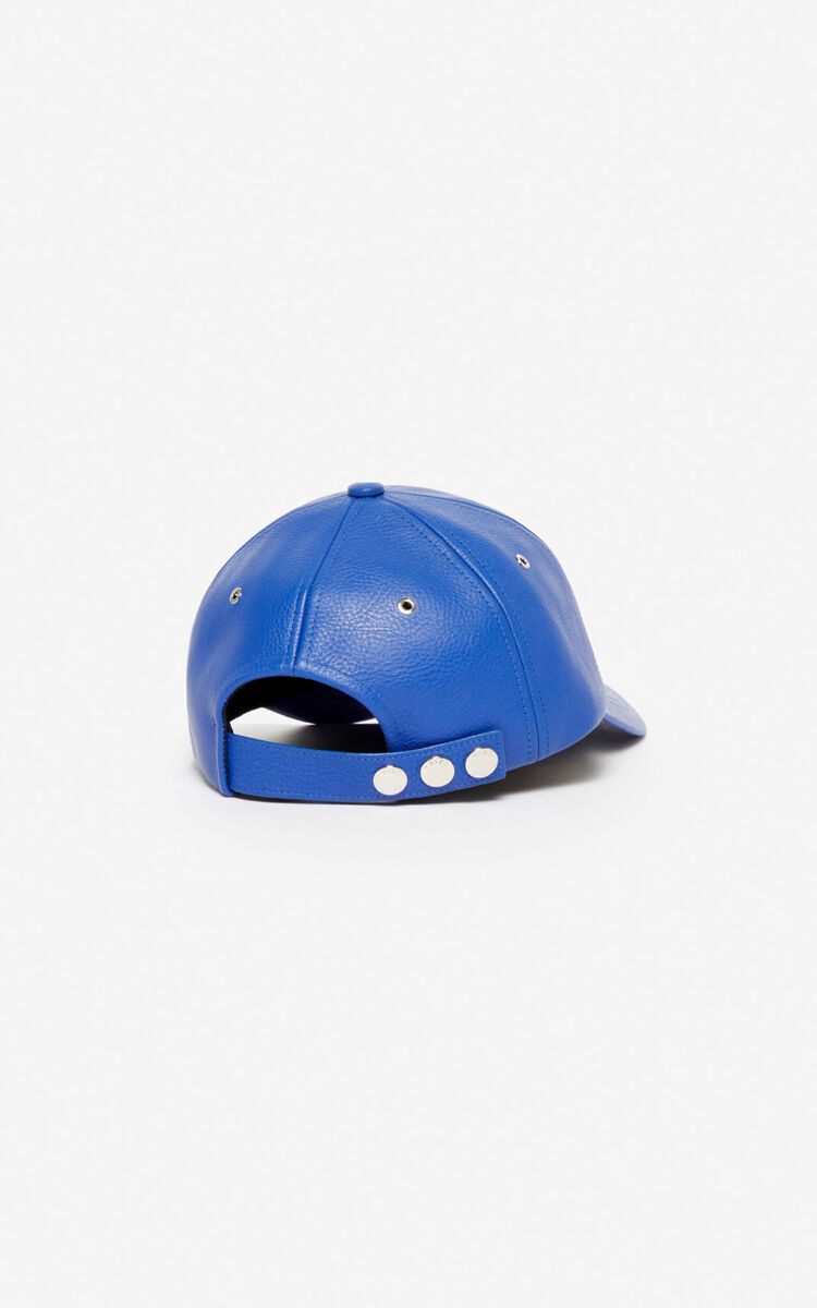 FRENCH BLUE Leather cap 'Tiger Mountain' for women KENZO