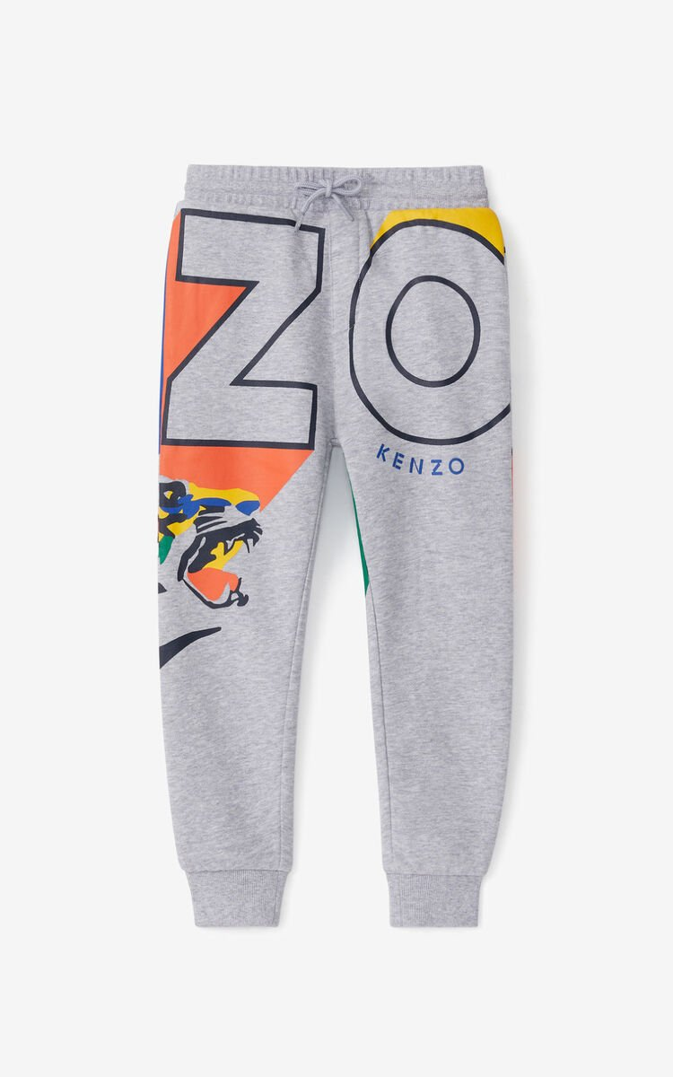 PEARL GREY 'Ventura' jogging trousers for men KENZO