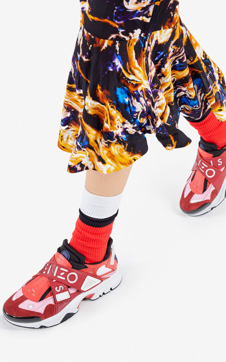 BORDEAUX Sonic Velcro sneakers for unisex KENZO