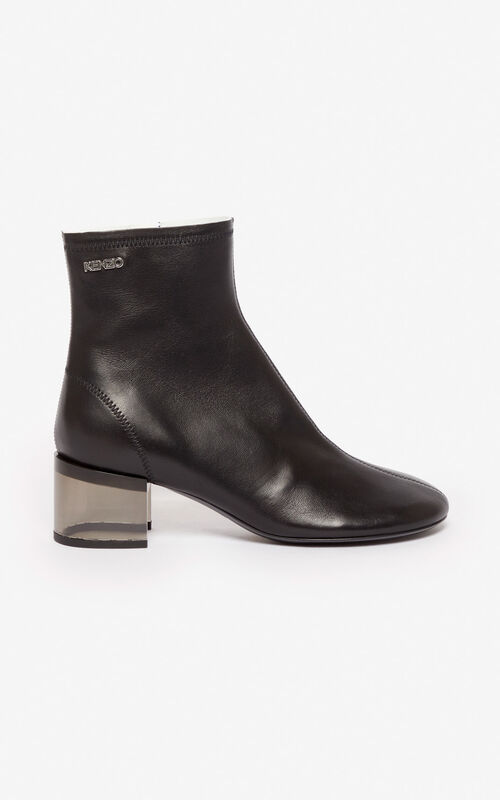 BLACK K-Round high heel ankle boots for women KENZO
