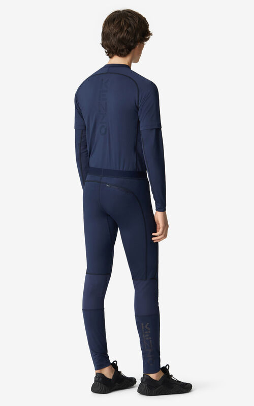 MIDNIGHT BLUE KENZO Sport leggings for men
