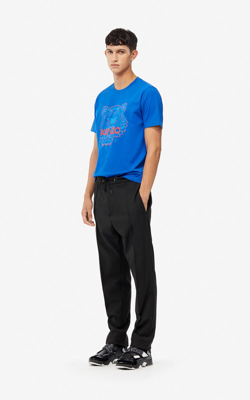 BLACK Pleated slim-fitting trousers for men KENZO