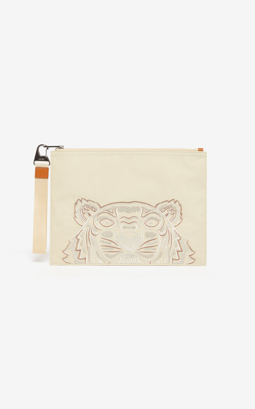OFF WHITE 'High Summer Capsule Collection' A4 Tiger clutch for unisex KENZO