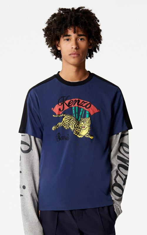INK 'Bamboo Tiger' T-shirt for men KENZO
