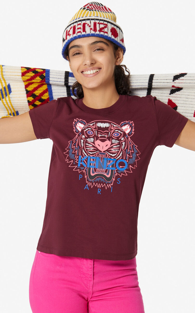 BORDEAUX Tiger T-shirt for women KENZO
