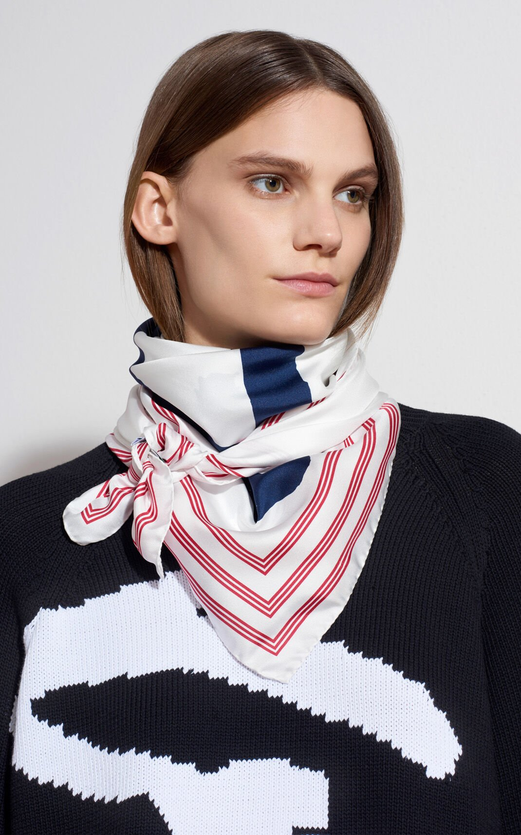 WHITE KENZO Signature Silk Scarf for unisex