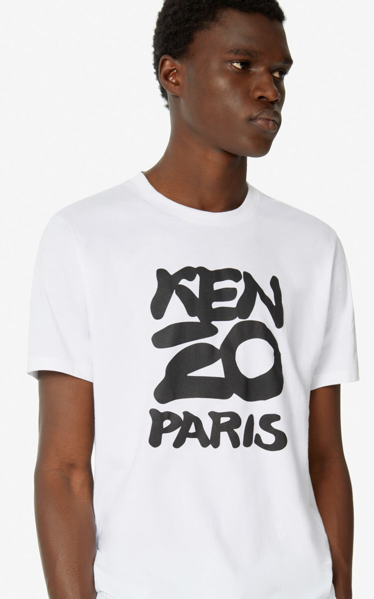 WHITE KENZO Paris t-shirt  for men