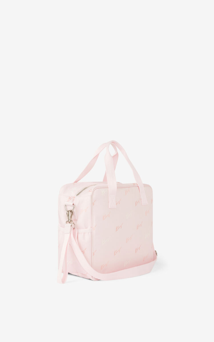 FADED PINK Diaper bag and changing pad for unisex KENZO