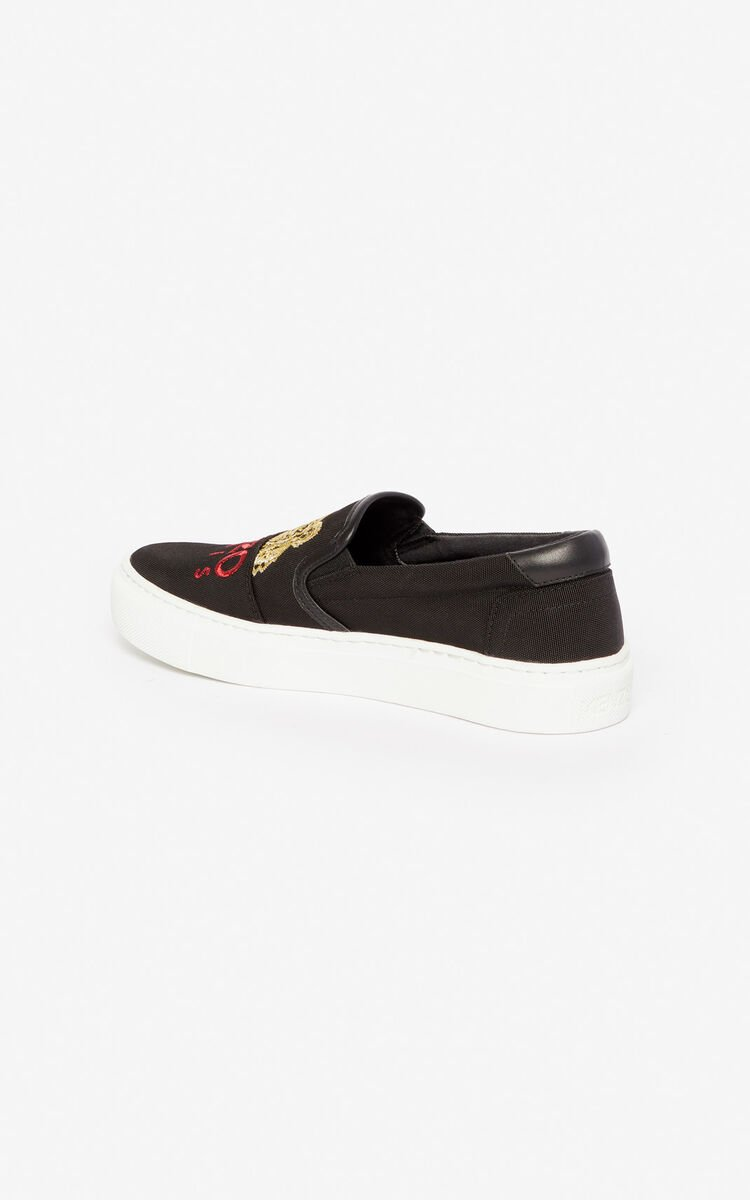 BLACK K-Skate Tiger loafers for unisex KENZO