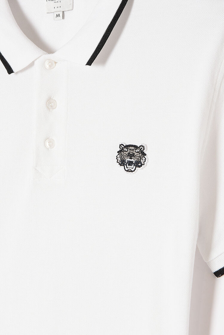 WHITE Adjusted Tiger Polo for men KENZO