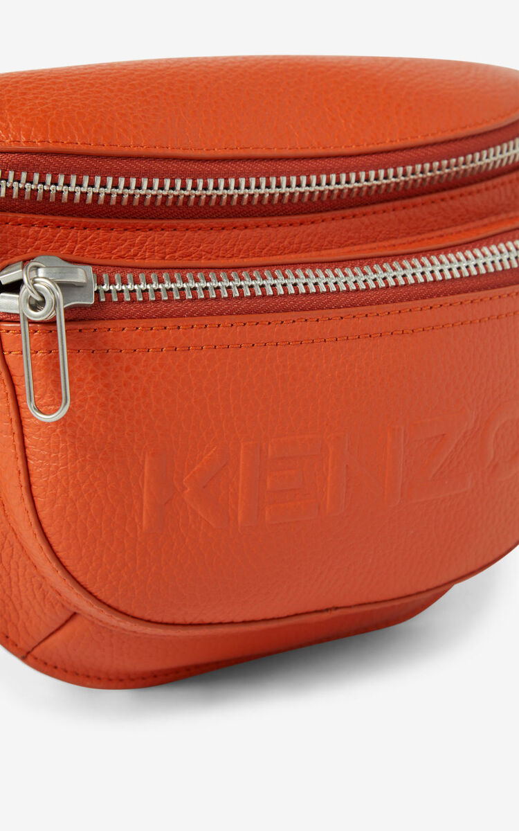 PAPRIKA KENZO Imprint grained leather bumbag for women