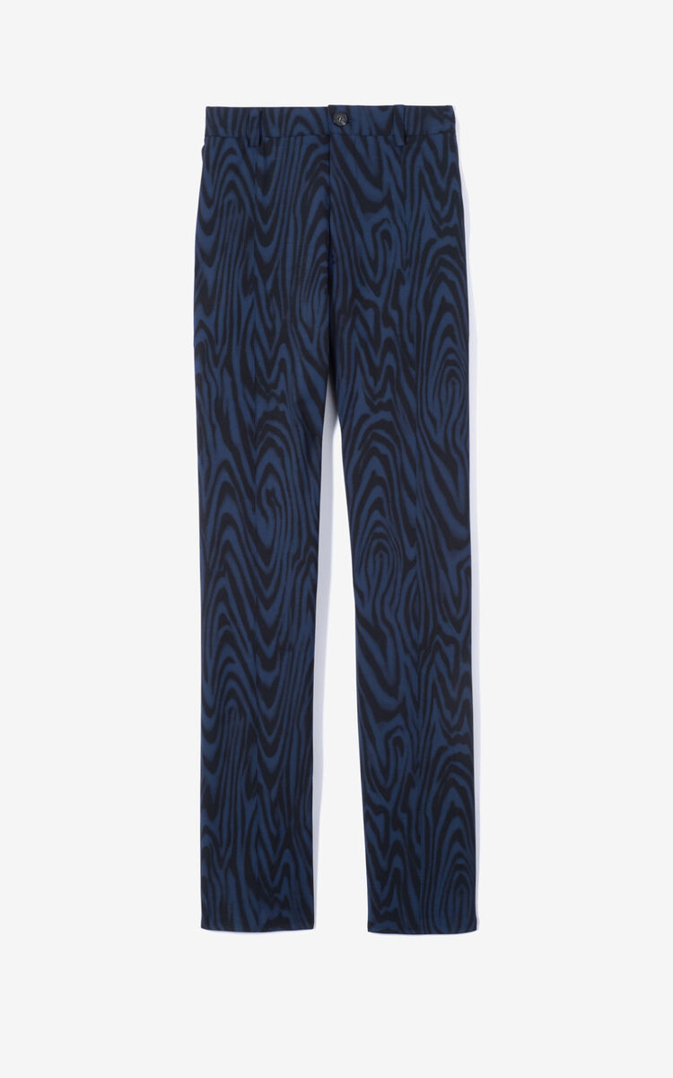 NAVY BLUE 'Moiré Tiger' suit trousers for men KENZO