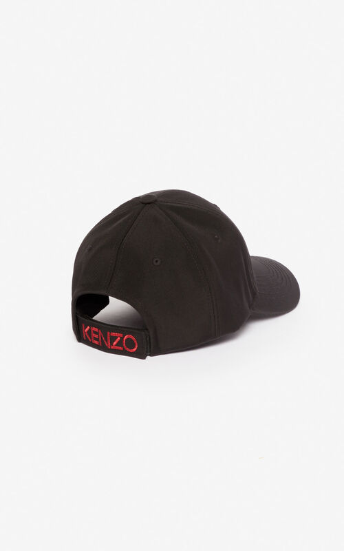BLACK Canvas Tiger cap for unisex KENZO