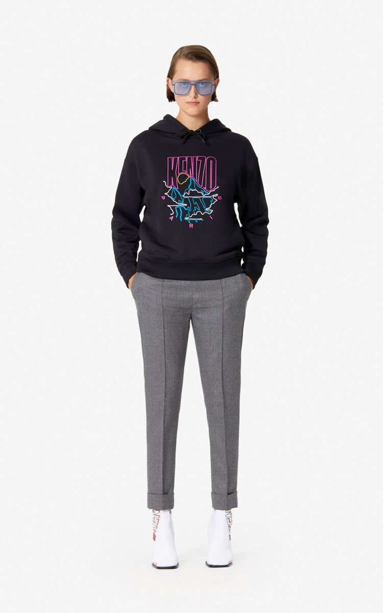 MISTY GREY Tapered flannel trousers for women KENZO