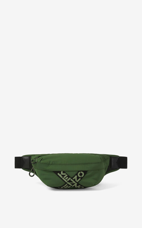 DARK KHAKI KENZO Sport belt bag for unisex