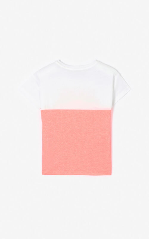 DEEP PINK Two-toned Tiger t-shirt for men KENZO