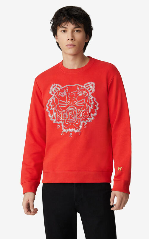 MEDIUM RED  Tiger sweatshirt for men KENZO