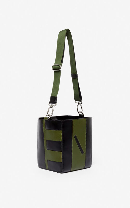 DARK KHAKI Kube Small Tote bag  for women KENZO