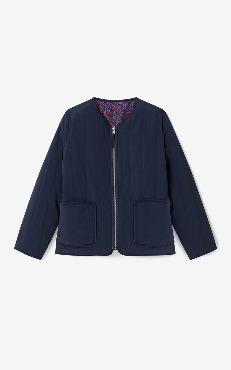 BLUE BLACK Reversible quilted jacket for women KENZO