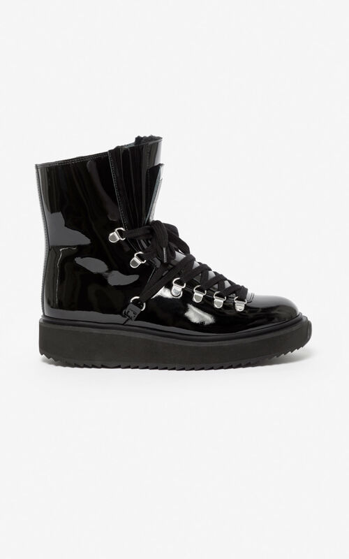 BLACK 'Capsule Expedition' Alaska boots  for unisex KENZO