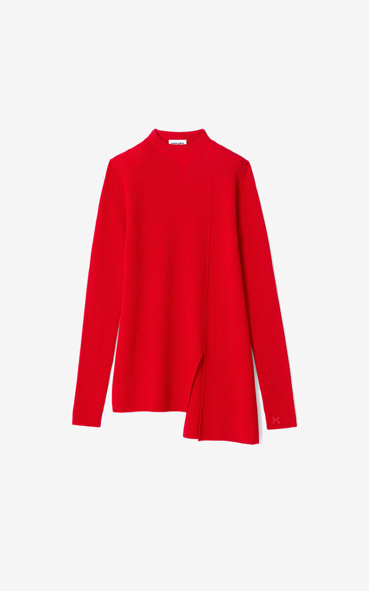 MEDIUM RED Asymmetric tunic jumper for women KENZO