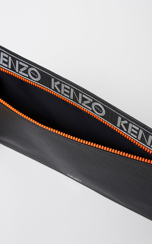 BLACK KENZO Sport Clutch for women