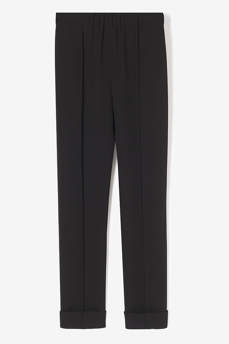 BLACK Soft Crepe Pants for women KENZO