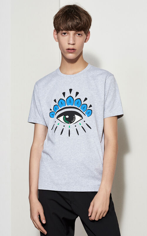 PALE GREY Eye T-shirt for men KENZO