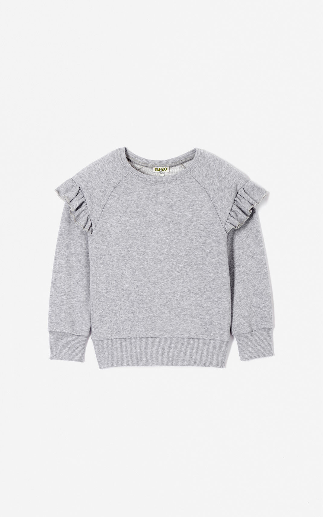 MIDDLE GREY KENZO Logo ruffled sweatshirt for men