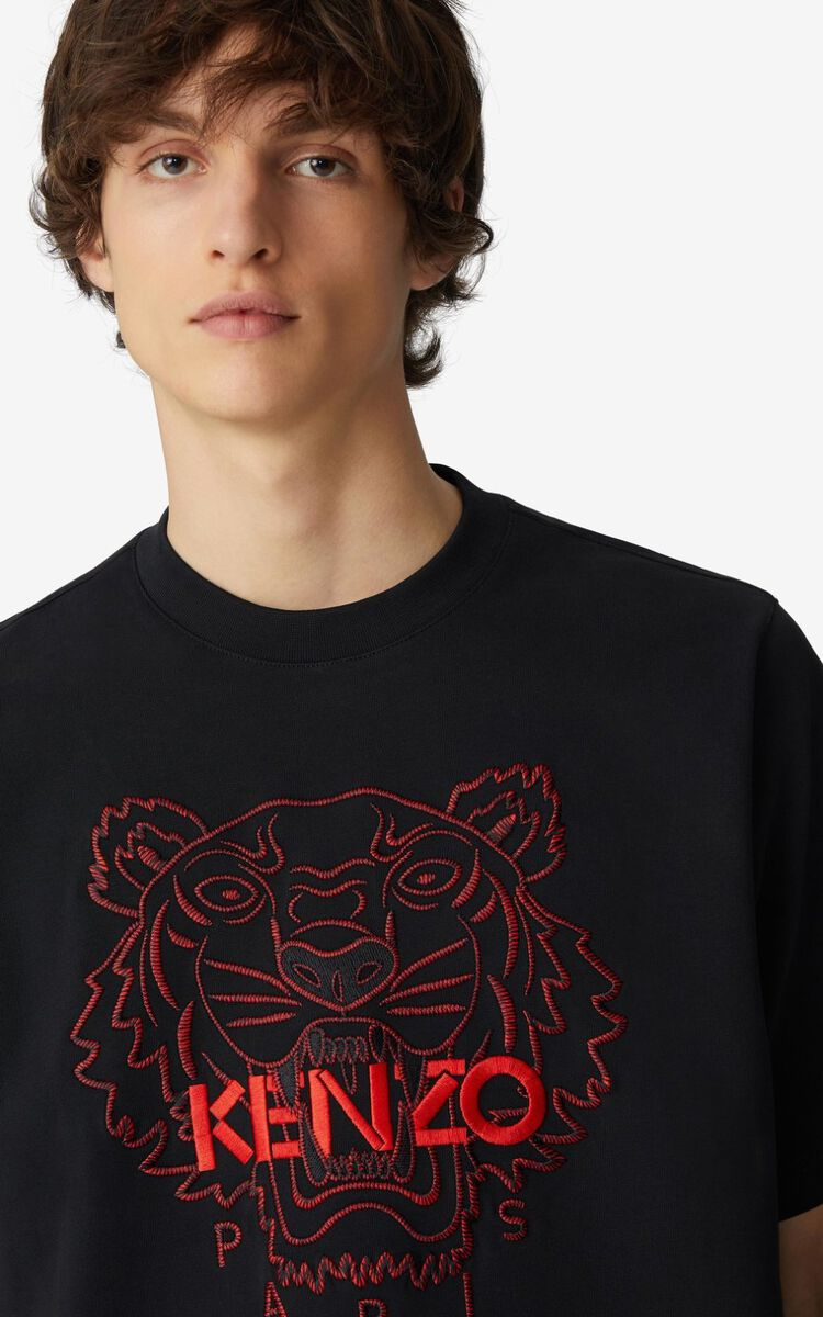 BLACK 'Chinese New Year Capsule' Tiger loose-fitting T-shirt for women KENZO