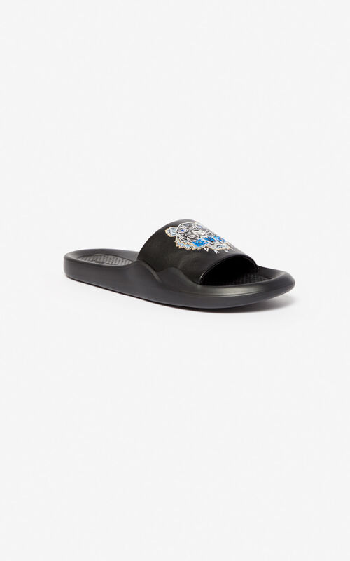 BLACK Pool Tiger mules for unisex KENZO
